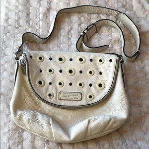 Marc by Marc Jacobs White Leather Crossbody Purse